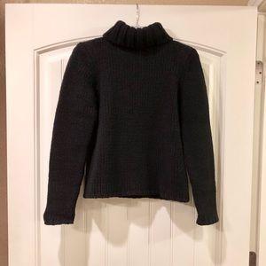 Gap Black Wool Blend Heavyweight Turtleneck Size M
